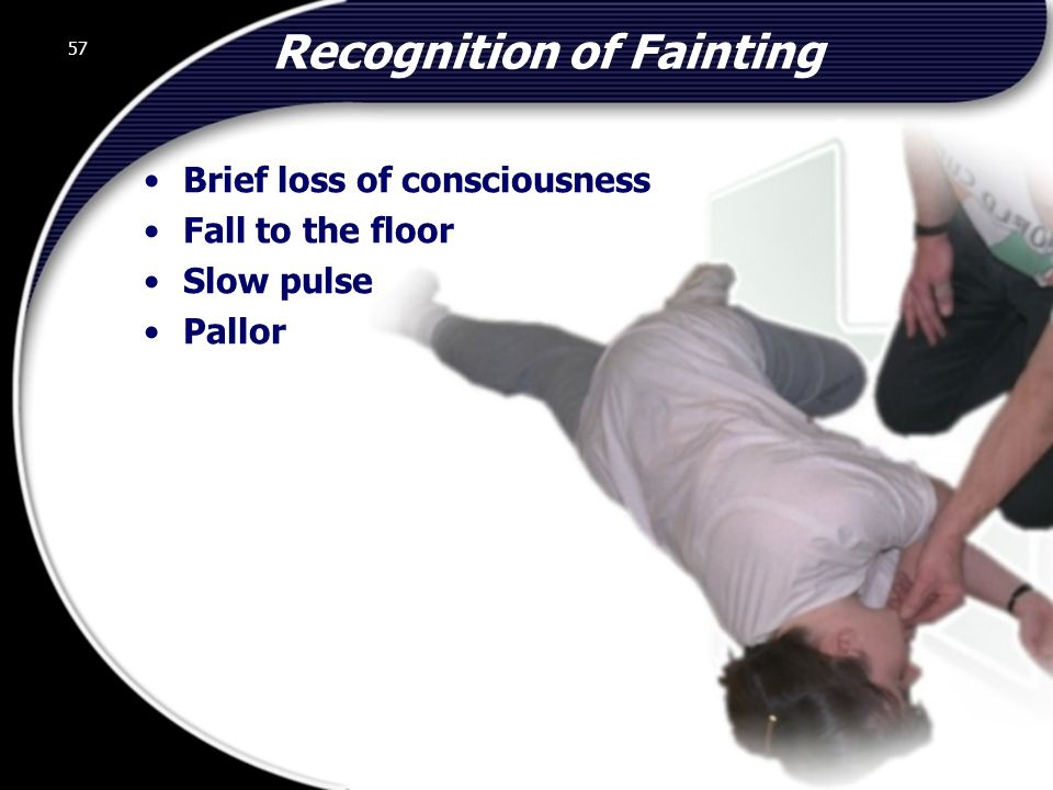 Recognition of Fainting