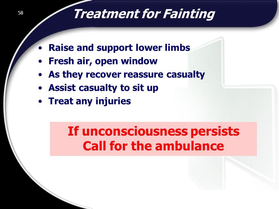 Treatment for Fainting