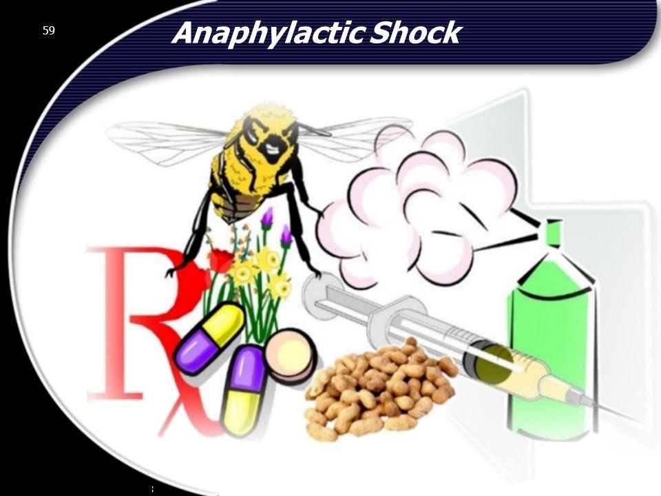 Anaphylactic Shock 59 © 2002 Abertay Nationwide Training