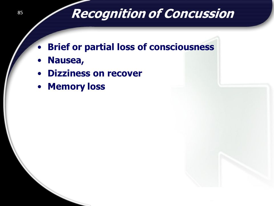 Recognition of Concussion