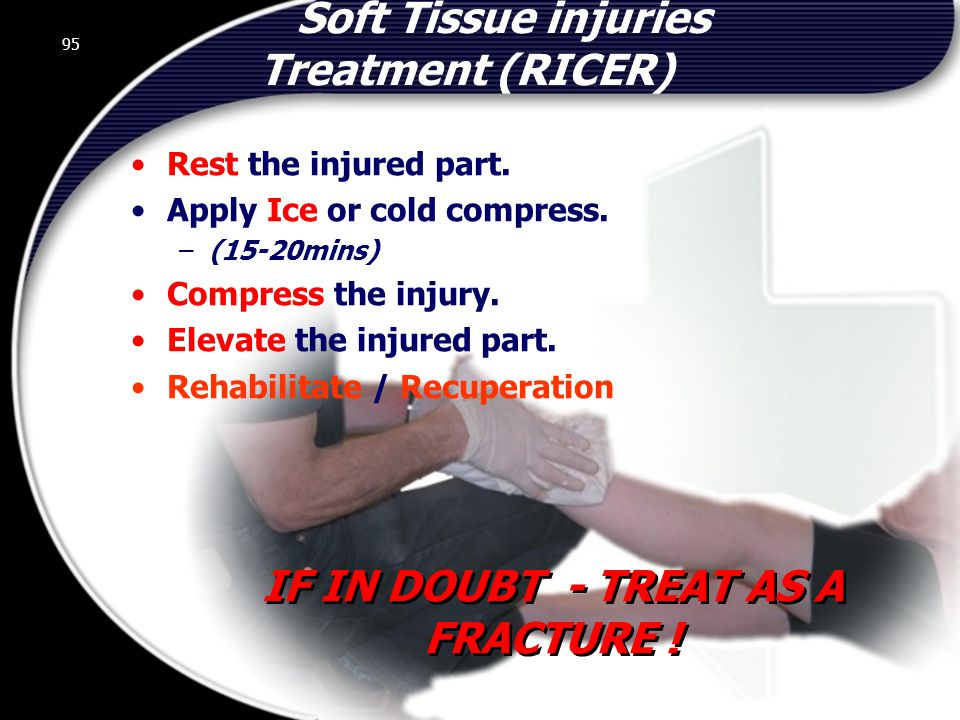 Soft Tissue injuries Treatment (RICER)