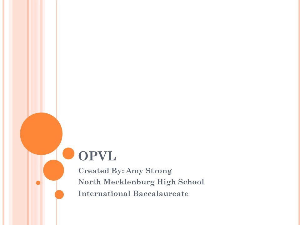 OPVL Created By: Amy Strong North Mecklenburg High School