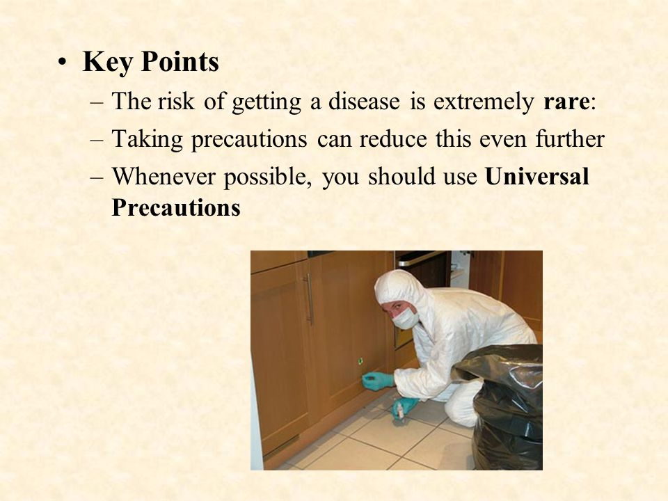 Key Points The risk of getting a disease is extremely rare: