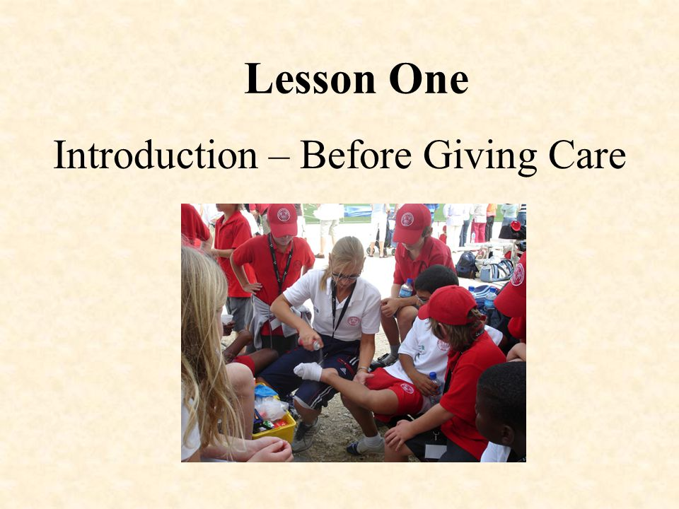 Introduction – Before Giving Care
