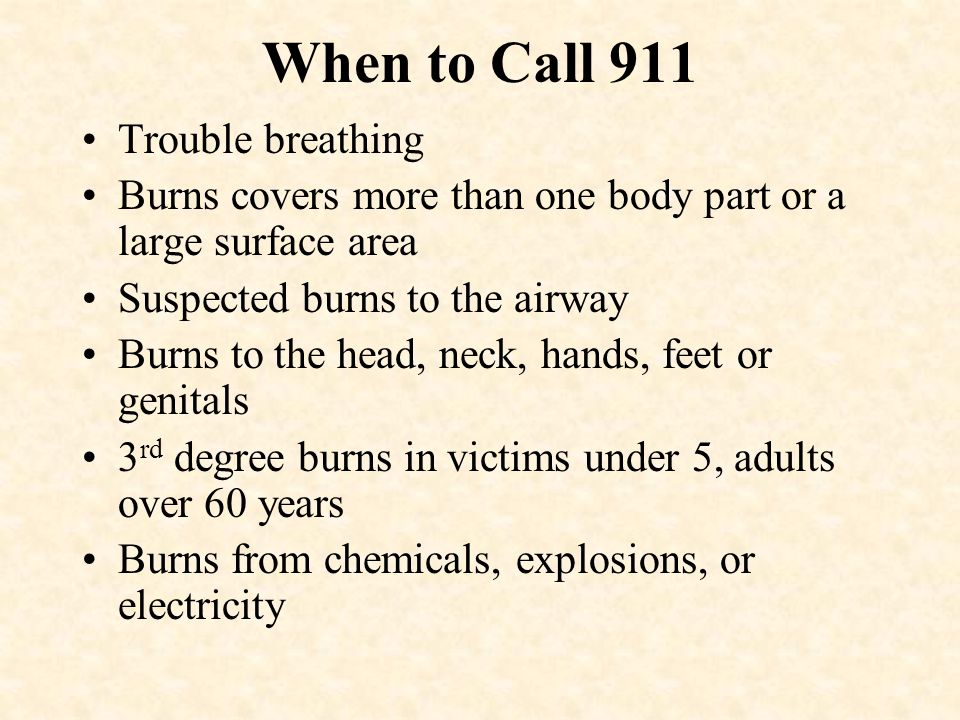 When to Call 911 Trouble breathing