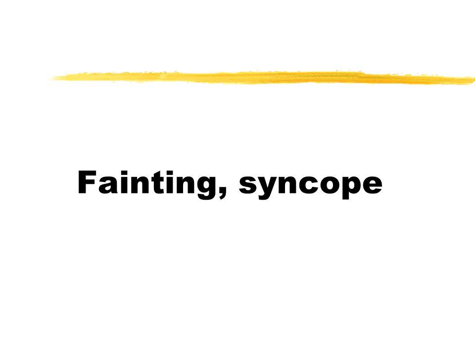 Fainting, syncope