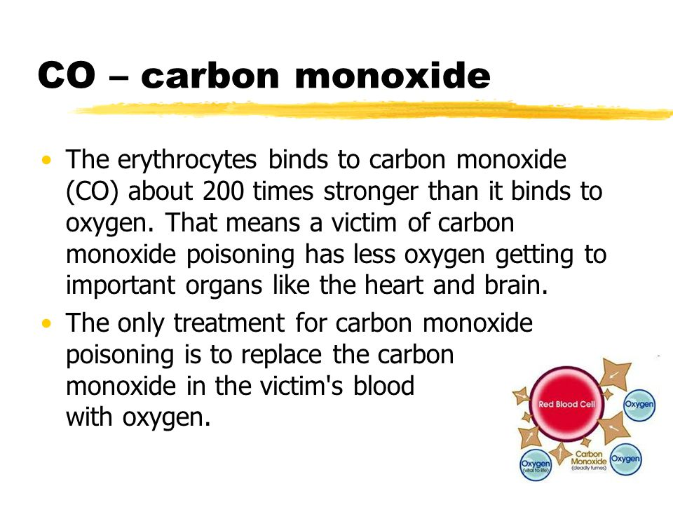 CO – carbon monoxide