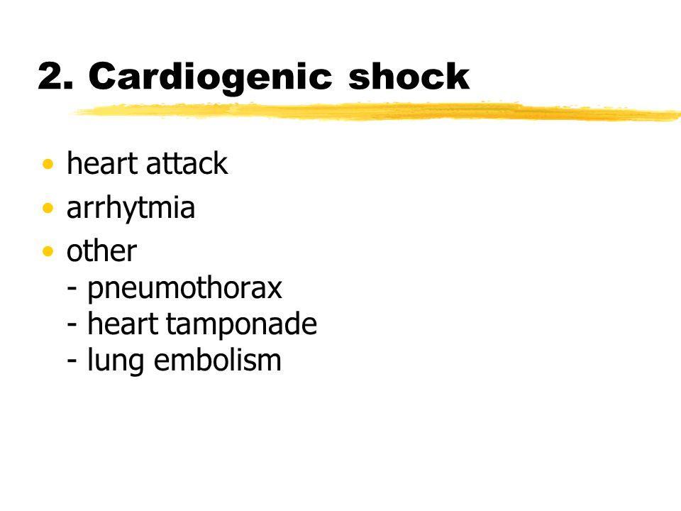 2. Cardiogenic shock heart attack arrhytmia