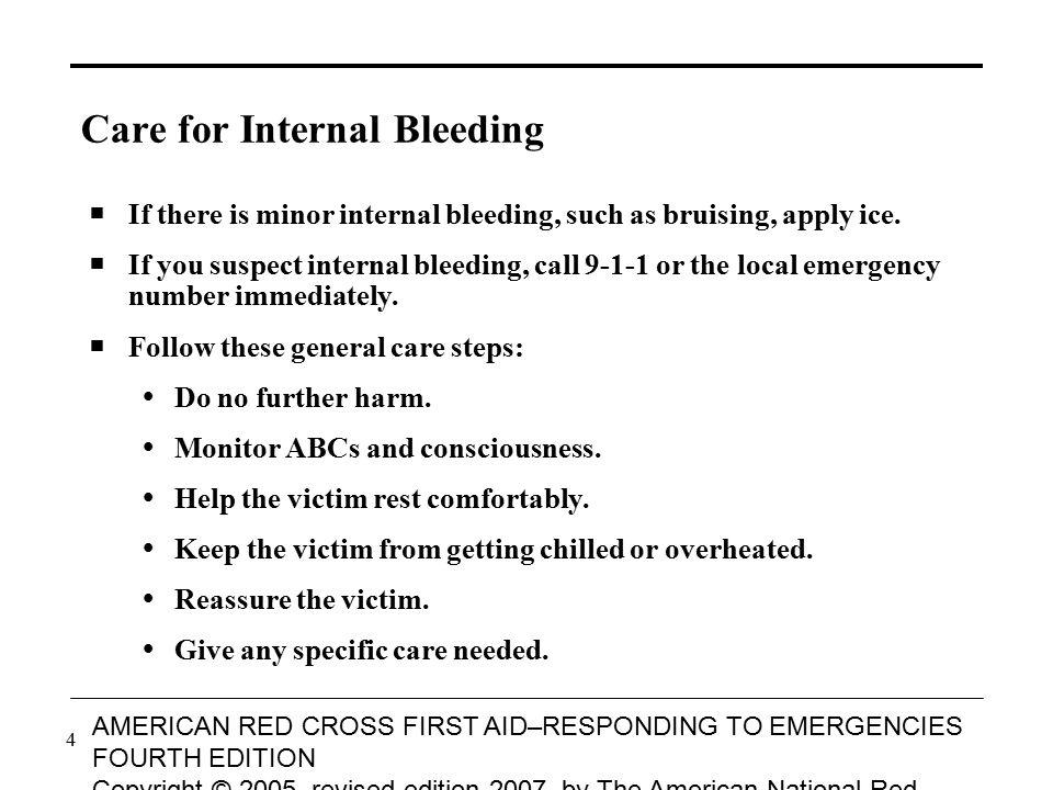 Care for Internal Bleeding