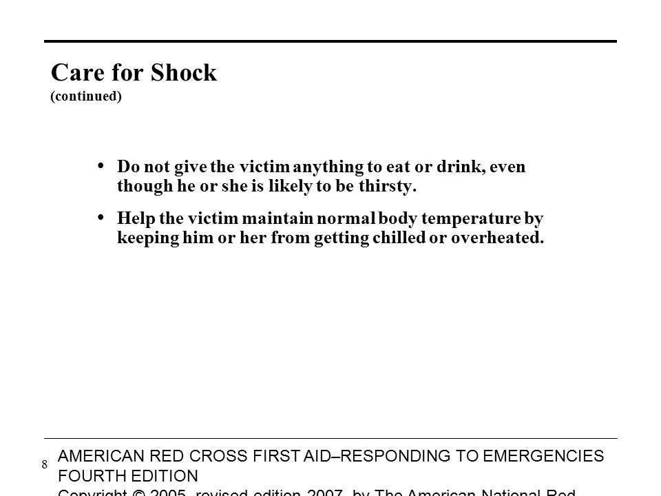 Care for Shock (continued)