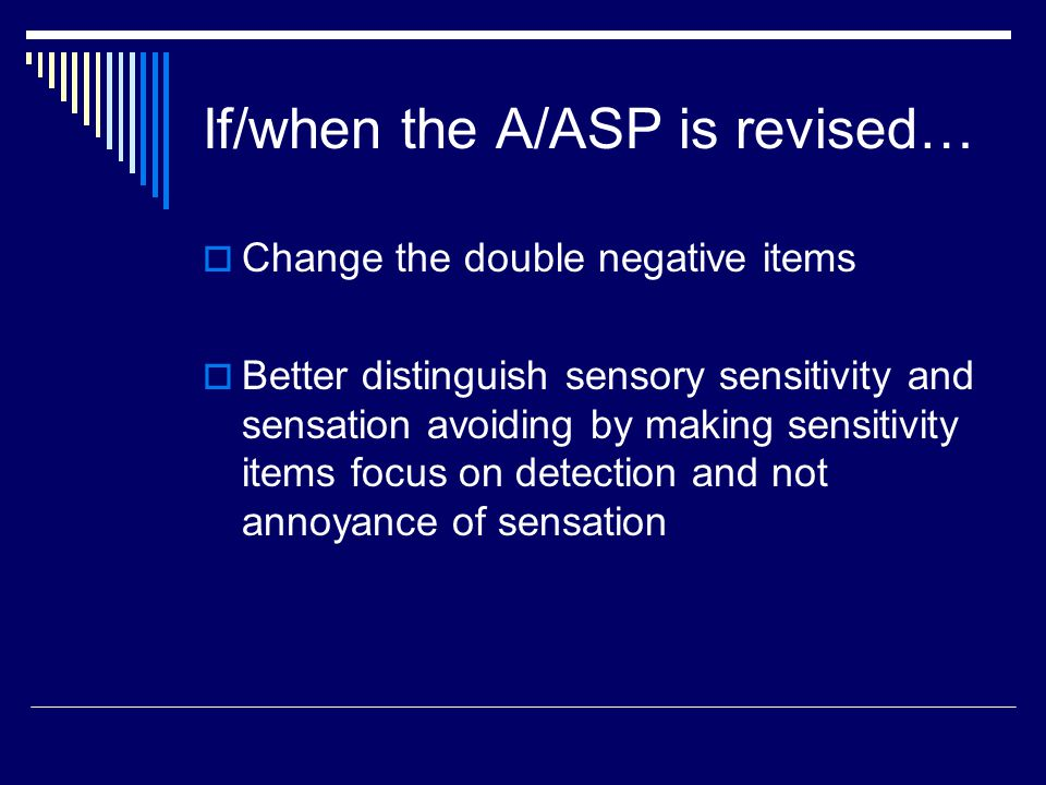 If/when the A/ASP is revised…