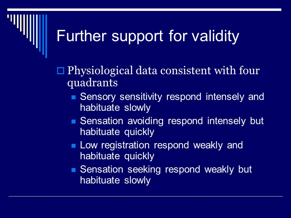 Further support for validity