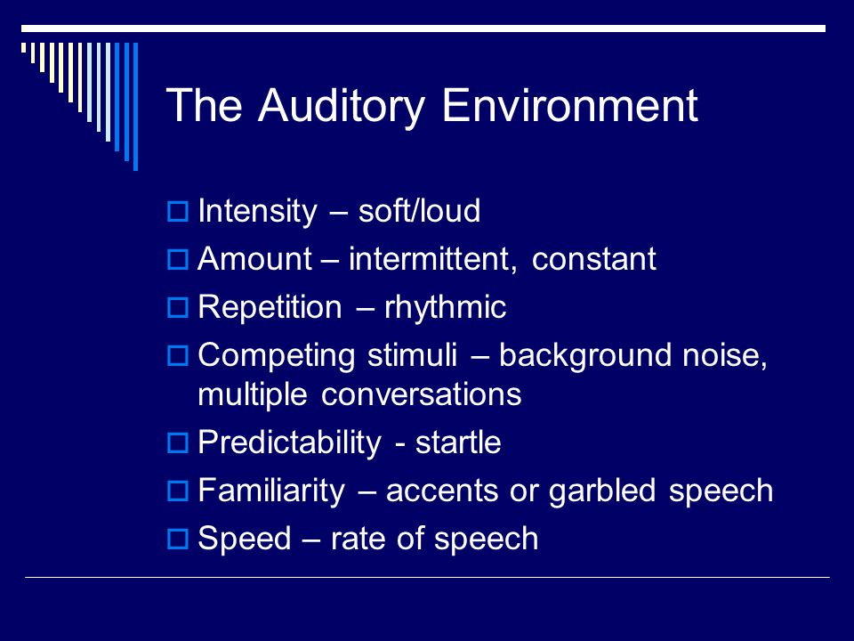 The Auditory Environment