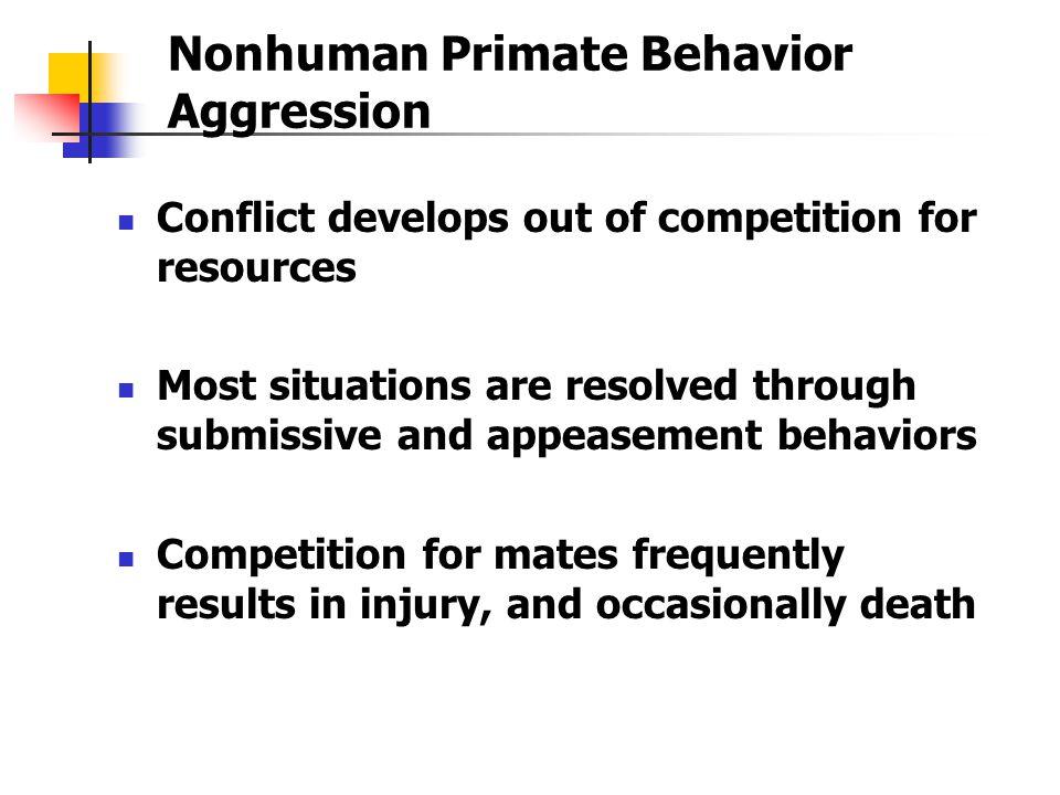 Nonhuman Primate Behavior Aggression