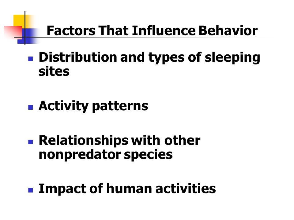 Factors That Influence Behavior