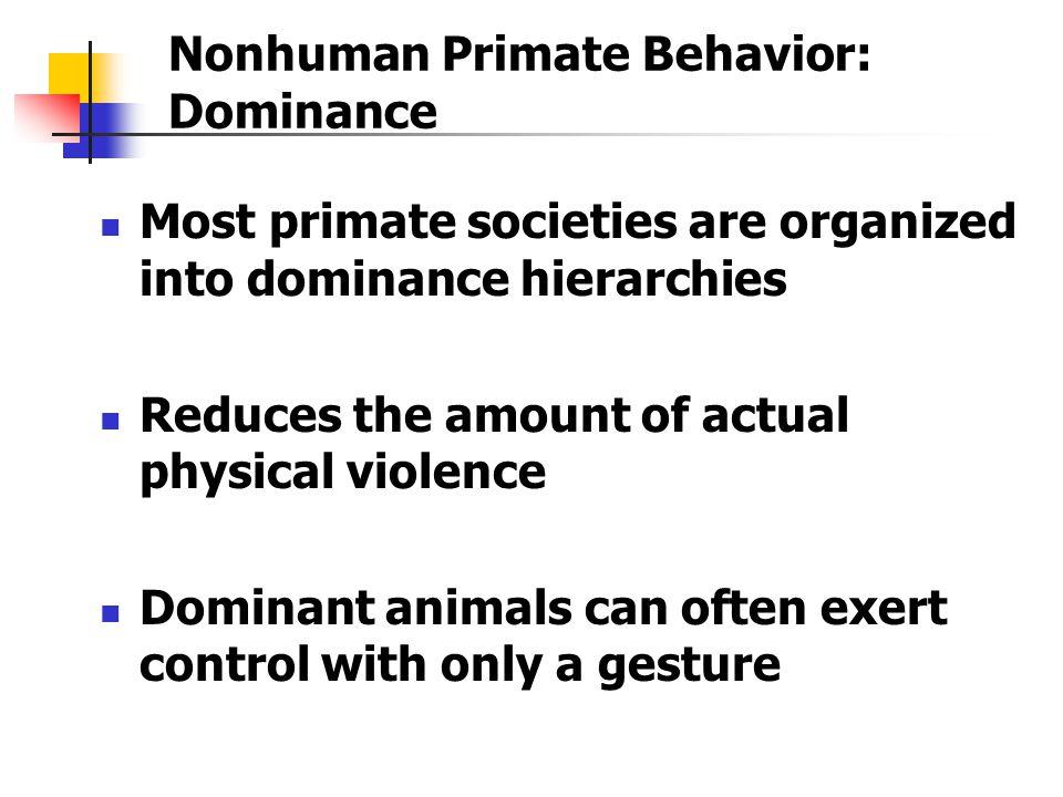 Nonhuman Primate Behavior: Dominance
