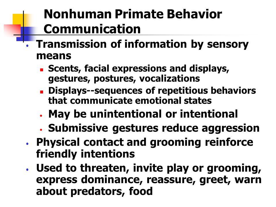 Nonhuman Primate Behavior Communication