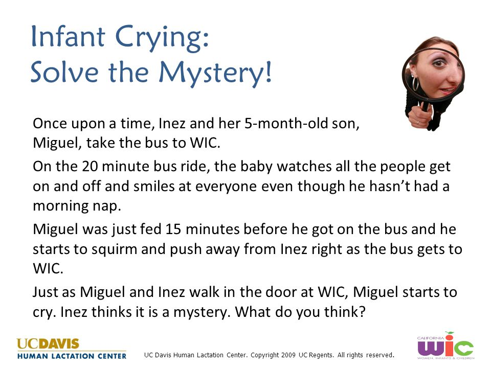 Infant Crying: Solve the Mystery!