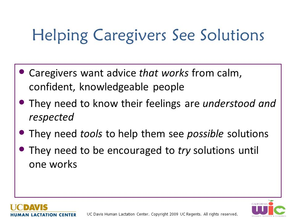 Helping Caregivers See Solutions