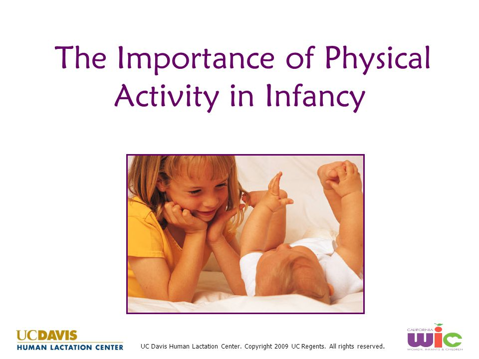 The Importance of Physical Activity in Infancy