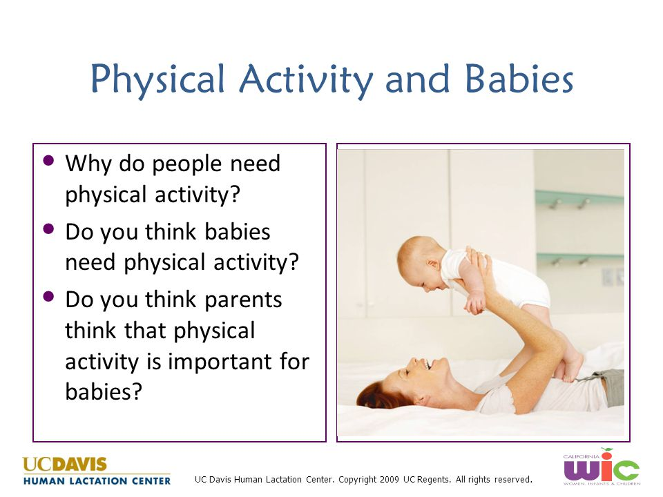 Physical Activity and Babies