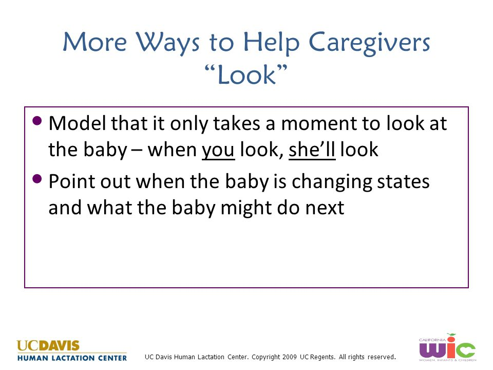 More Ways to Help Caregivers Look