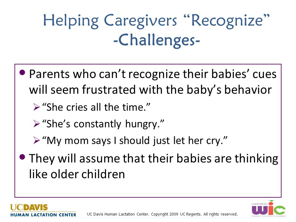 Helping Caregivers Recognize -Challenges-
