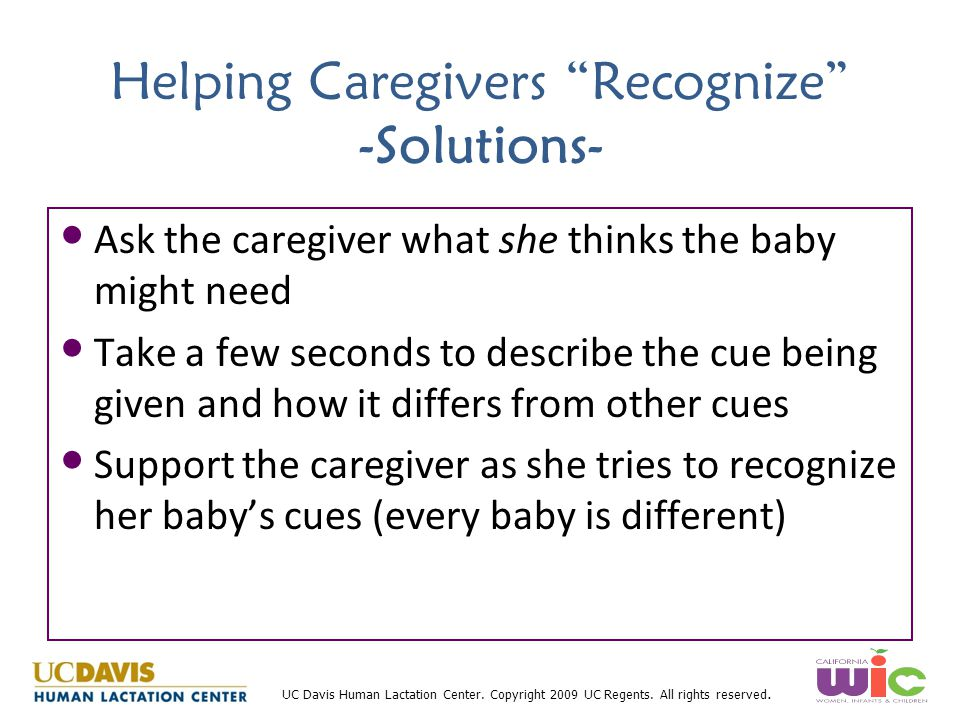 Helping Caregivers Recognize -Solutions-