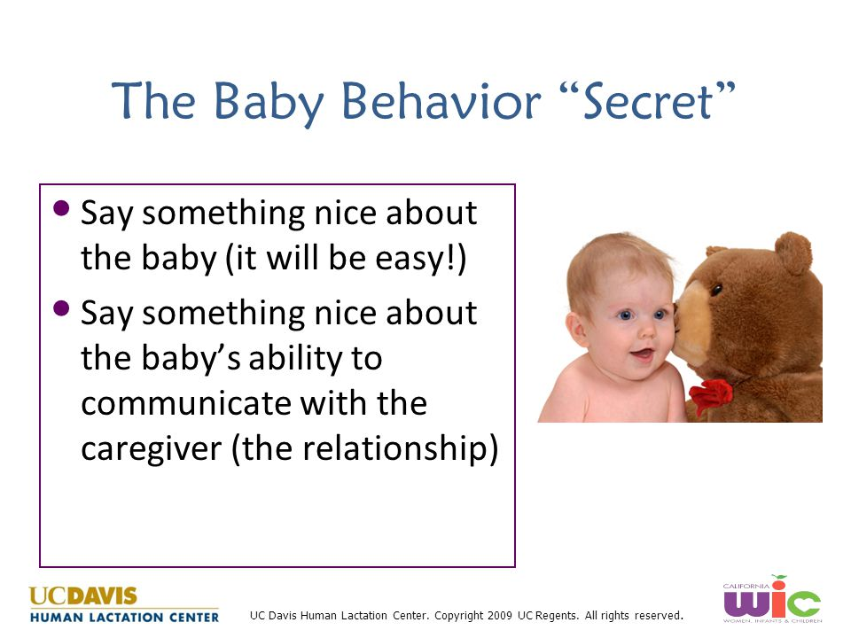 The Baby Behavior Secret