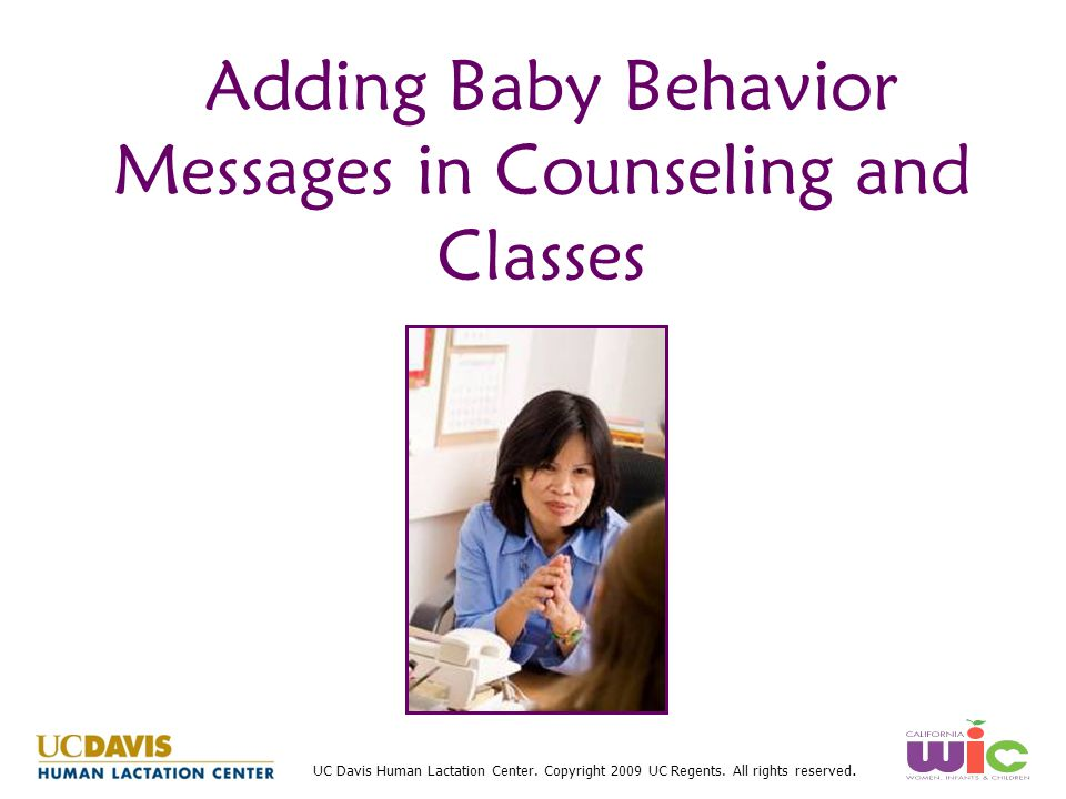 Adding Baby Behavior Messages in Counseling and Classes