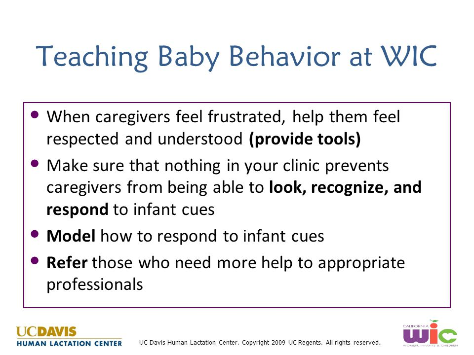 Teaching Baby Behavior at WIC