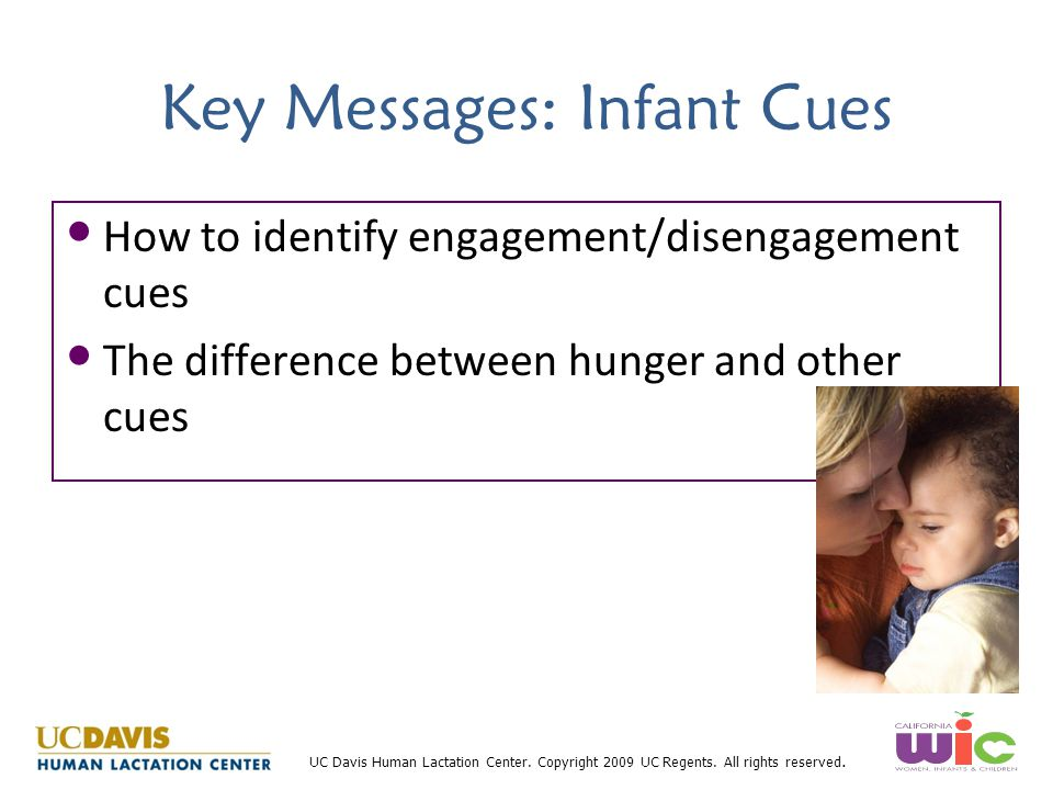 Key Messages: Infant Cues