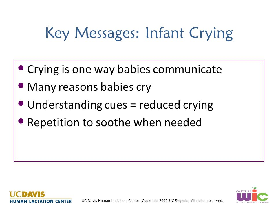 Key Messages: Infant Crying