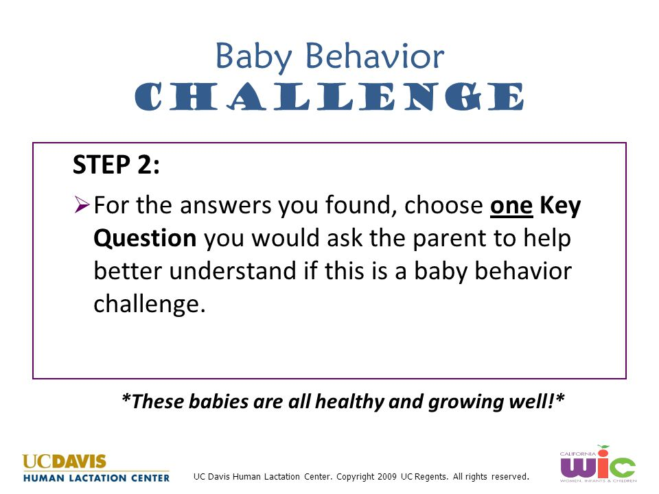 Baby Behavior Challenge
