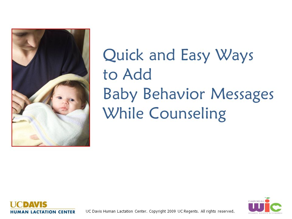 Quick and Easy Ways to Add Baby Behavior Messages While Counseling
