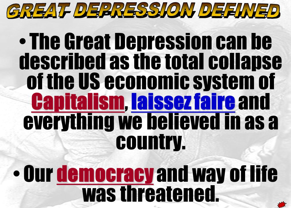 GREAT DEPRESSION DEFINED