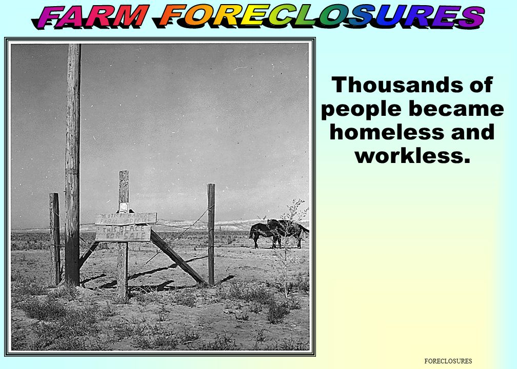 Thousands of people became homeless and workless.