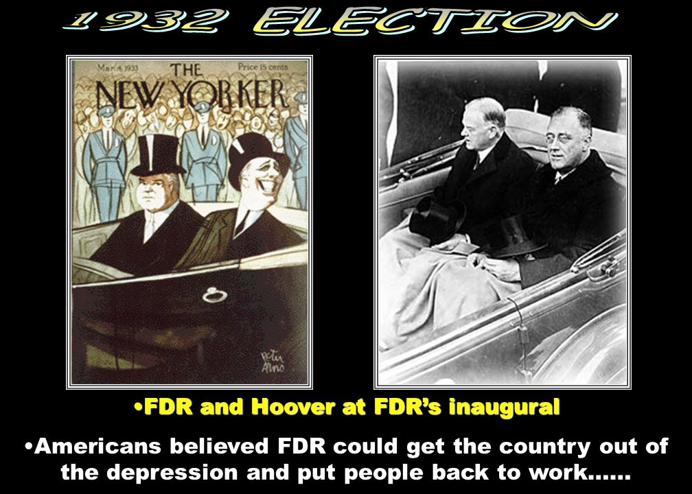 FDR and Hoover at FDR's inaugural
