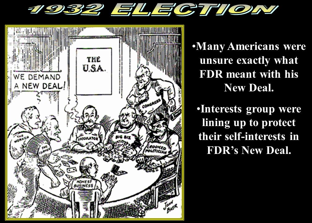 Many Americans were unsure exactly what FDR meant with his New Deal.