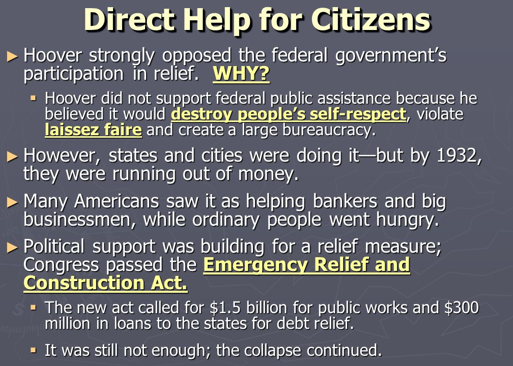 Direct Help for Citizens