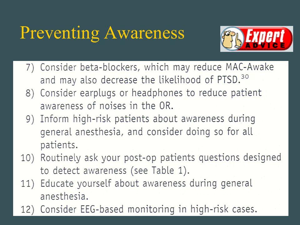 Preventing Awareness