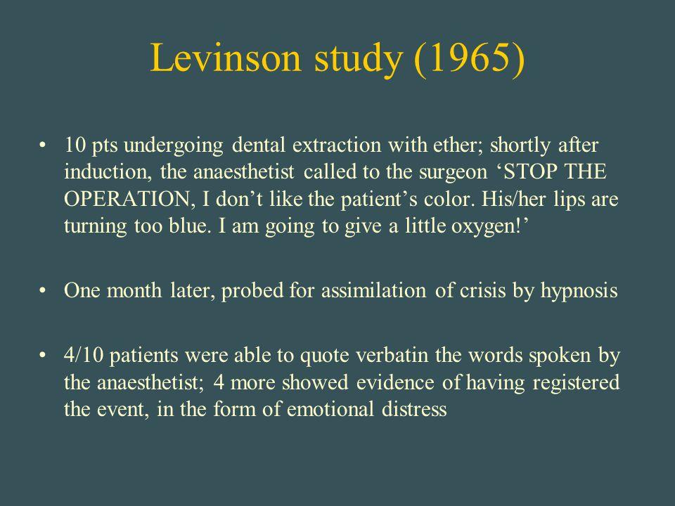Levinson study (1965)