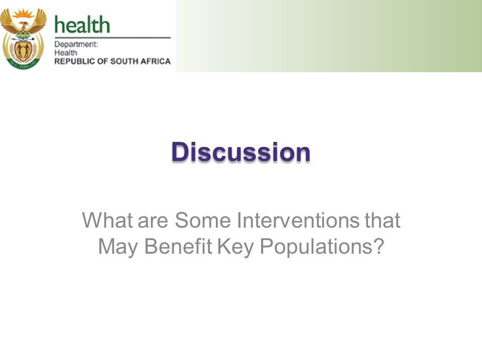 What are Some Interventions that May Benefit Key Populations