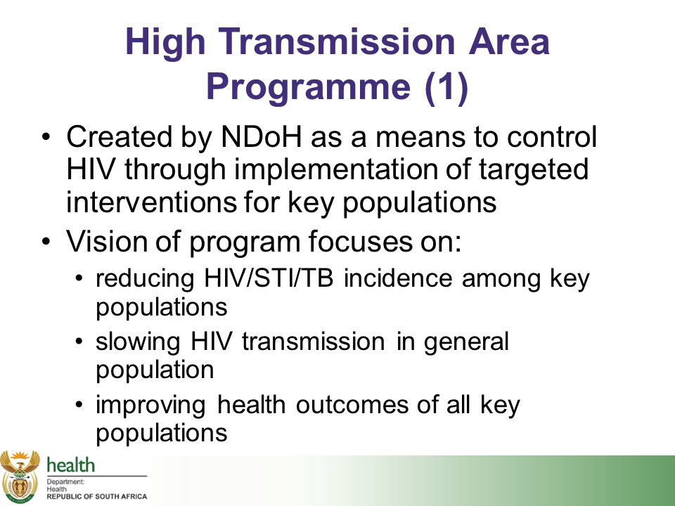 High Transmission Area Programme (1)