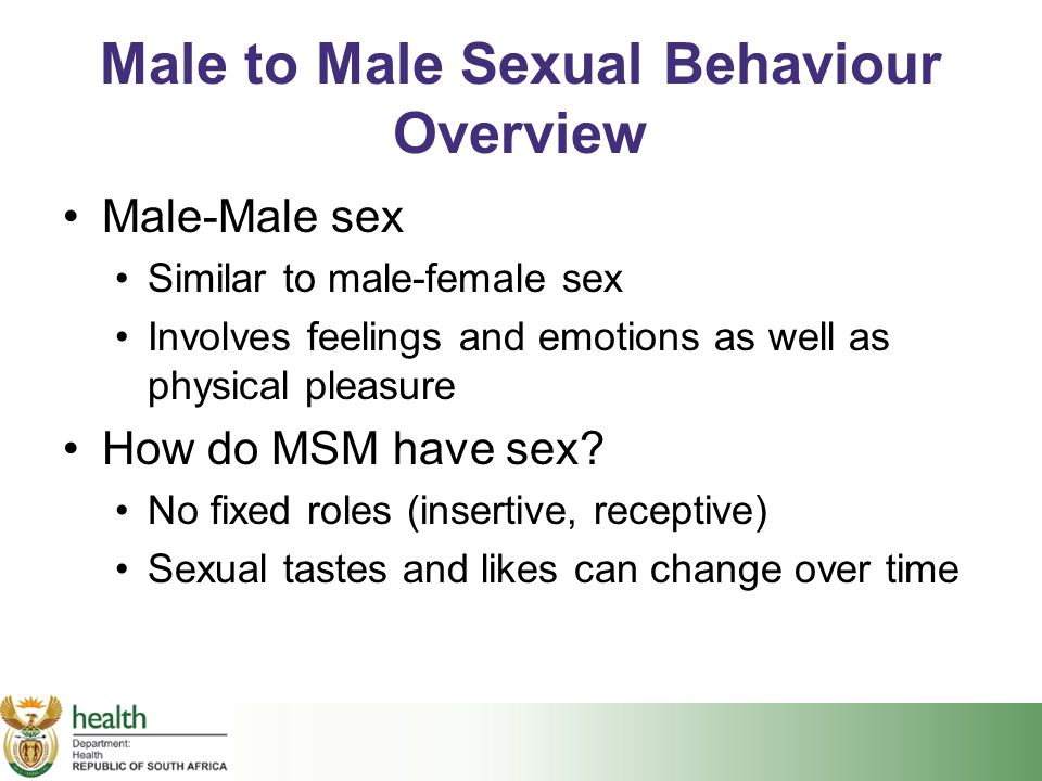 Male to Male Sexual Behaviour Overview