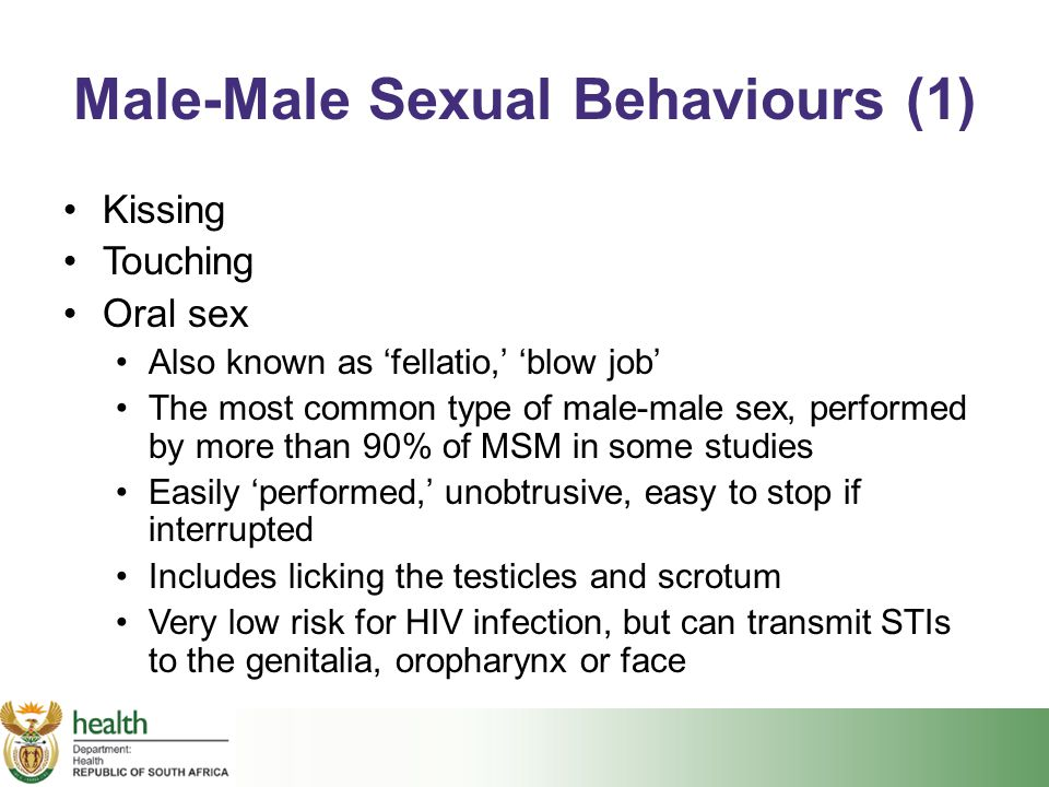 Male-Male Sexual Behaviours (1)