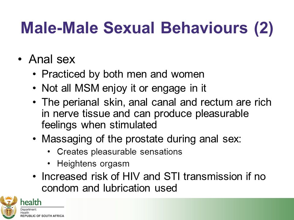 Male-Male Sexual Behaviours (2)