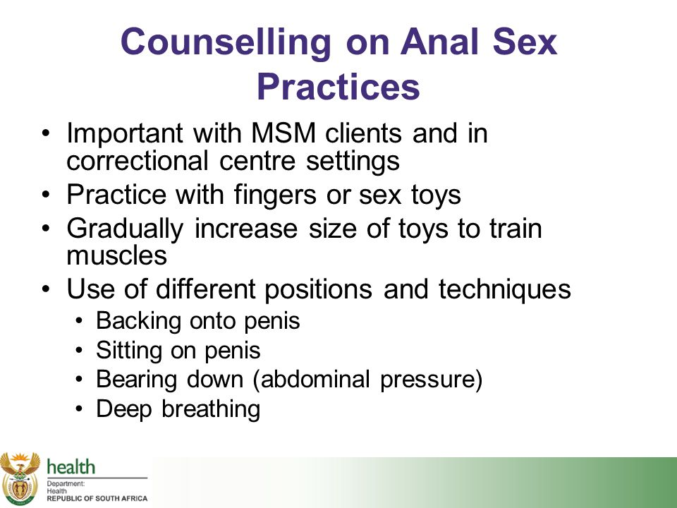 Counselling on Anal Sex Practices