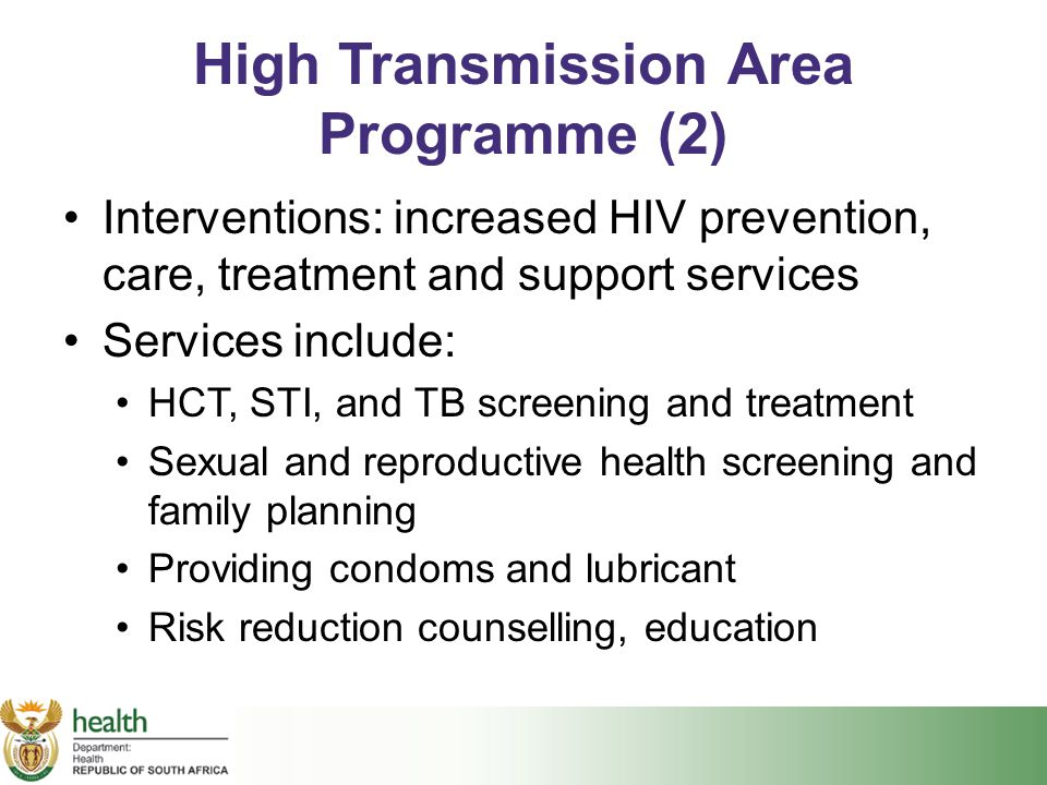 High Transmission Area Programme (2)