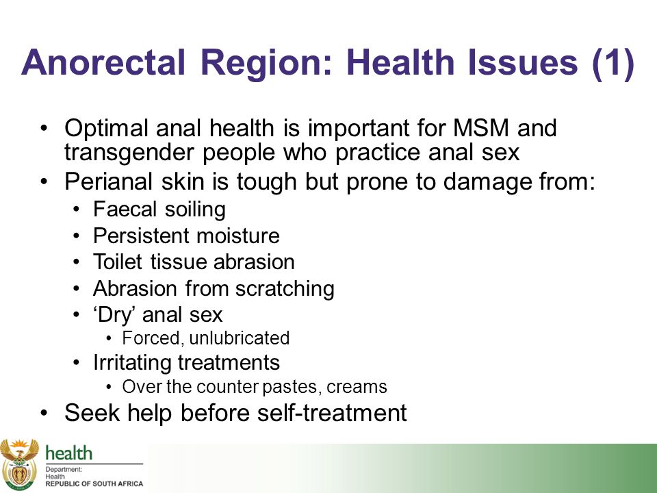 Anorectal Region: Health Issues (1)